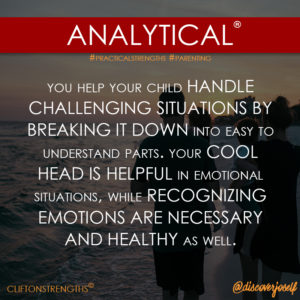 Analytical, Paenting, Strengths